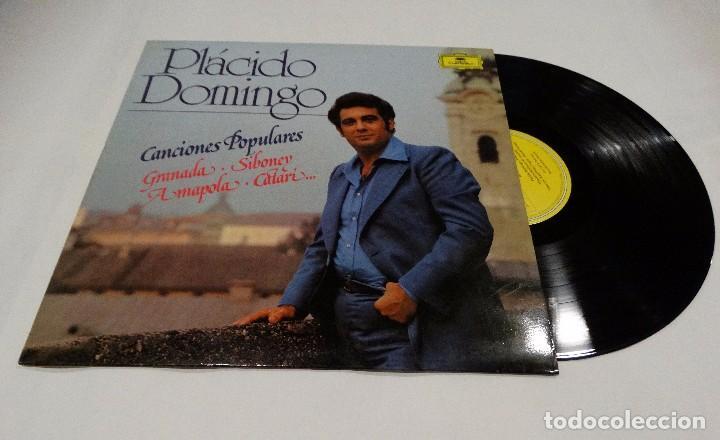 PLÁCIDO DOMINGO - CANCIONES POPULARES LP 1982 (Música - Discos - LP Vinilo - Clásica, Ópera, Zarzuela y Marchas)