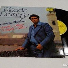 Discos de vinilo: PLÁCIDO DOMINGO - CANCIONES POPULARES LP 1982. Lote 91921675