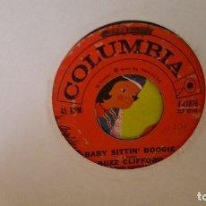 Discos de vinilo: SINGLE - BUZZ CLIFFORD - BABY SITTIN BOOGIE / DRIFTWOOD - COLUMBIA 4-41876 / ZSP 52146 - 1960 USA. Lote 91995730
