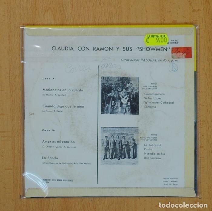Discos de vinilo: CLAUDIA CON RAMON Y SUS SCHOWMEN - MARIONETAS EN LA CUERDA + 3 - EP - Foto 2 - 91999355