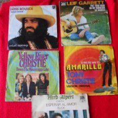 Discos de vinilo: LOTE SINGLES (LEIF GARRETT-DEMIS ROUSSOS-CHRISTIE-HERB ALPERT). Lote 92012095