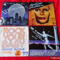 Discos de vinilo: LOTE 4 SINGLES (THE MICHAEL ZAGER BAND/LIQUID GOLD/GEORGE MCCRAE/GARY LOW). Lote 92017570