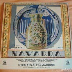 Discos de vinilo: NAVARRA - HERMANAS FLAMARIQUE + RONDALLA EP ODEON - 195? - JOTA JOTAS - FOLK . Lote 92018505