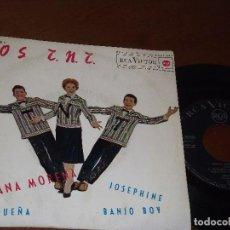 Discos de vinilo: LOS TNT-TRIANA MORENA + PEQUEÑA + JOSEPHINE + BANJO BOY EP 1962 SPAIN. Lote 92049905