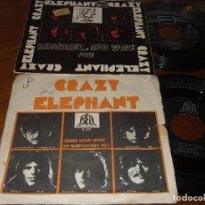 Discos de vinilo: CRAZY ELEPHANT-LOTE DE DOS SINGLES- RARE!!. Lote 92056395