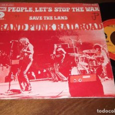 Dischi in vinile: GRAND FUNK RAILROAD, SG, PEOPLE, LET´S STOP THE WAR + 1, AÑO 1972. Lote 92056760
