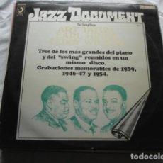 Discos de vinilo: EARL HINES / ART TATUM / TEDDY WILSON THE SWING PIANO . Lote 92059435