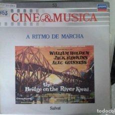 Discos de vinilo: LP - A RITMO DE MARCHA - CINE & MUSICA Nº 53 SALVAT. Lote 92092905