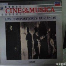 Discos de vinilo: LP - LOS COMPOSITORES EUROPEOS - CINE & MUSICA Nº 38 SALVAT. Lote 92093130