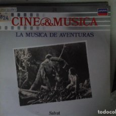 Discos de vinilo: LP - LA MUSICA DE AVENTURAS - CINE & MUSICA Nº 24 SALVAT. Lote 92093590