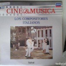 Discos de vinilo: LP - LOS COMPOSITORES ITALIANOS - CINE & MUSICA Nº 22 SALVAT. Lote 92093650