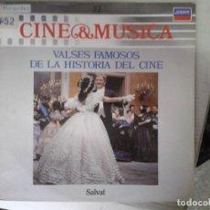 Discos de vinilo: LP - VALSES FAMOSOS DE LA HISTORIA DEL CINE - CINE & MUSICA Nº 52 SALVAT. Lote 92094515