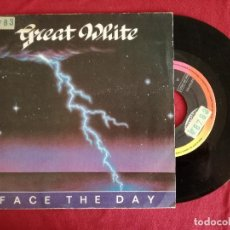 Discos de vinilo: GREAT WHITE, FACE THE DAY (EMI) SINGLE PROMOCIONAL ESPAÑA. Lote 92116360