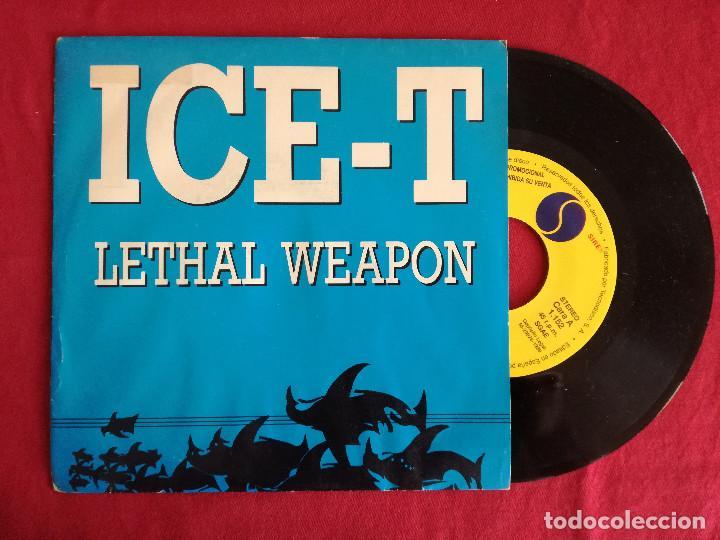 ICE-T, LETHAL WEAPON (WEA) SINGLE PROMOCIONAL ESPAÑA (Música - Discos - Singles Vinilo - Rap / Hip Hop)