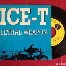 Discos de vinilo: ICE-T, LETHAL WEAPON (WEA) SINGLE PROMOCIONAL ESPAÑA. Lote 224424791