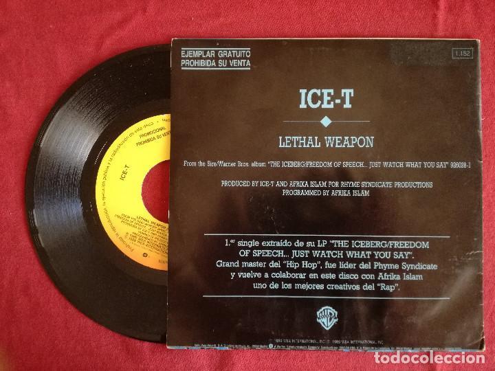 Discos de vinilo: ICE-T, LETHAL WEAPON (WEA) SINGLE PROMOCIONAL ESPAÑA - Foto 2 - 224424791