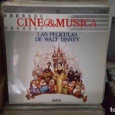 Discos de vinilo: LP - LAS PELICULAS DE WALT DISNEY - CINE & MUSICA Nº 11 SALVAT. Lote 92139710