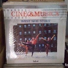 Discos de vinilo: LP - WEST SIDE STORY - CINE & MUSICA Nº 3 SALVAT (INCLUYE FASCICULO). Lote 92140385