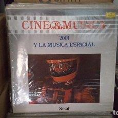 Discos de vinilo: LP - 2001 Y LA MUSICA ESPACIAL - CINE & MUSICA Nº 2 SALVAT (INCLUYE FASCICULO). Lote 92140595