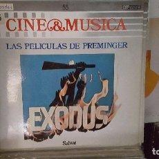 Discos de vinilo: LP - LAS PELICULAS DE PREMINGER - CINE & MUSICA Nº 55 SALVAT. Lote 92140950