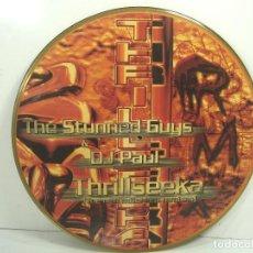 Discos de vinilo: DISCO LP PICTURE - THE SRUNNED GUYS & DJ PAUL THRILLSEEKA - VINILO. Lote 92172310