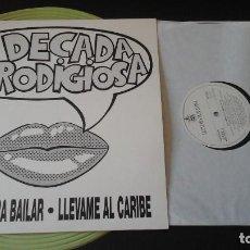 Discos de vinilo: LA DECADA PRODIGIOSA - MAXI PROMO LICENCIA PARA BAILAR / LLEVAME AL CARIBE. Lote 92183535