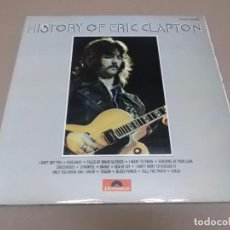 Discos de vinilo: ERIC CLAPTON (LP) HISTORY OF ERIC CLAPTON AÑO 1972 – DOBLE DISCO CON PORTADA ABIERTA. Lote 92195740