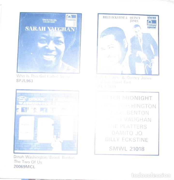 Discos de vinilo: SARAH VAUGHAN AND BILLY ECKSTINE - PASSING STRANGERS - SINGLE MERCURY 1969 - Foto 2 - 92201700