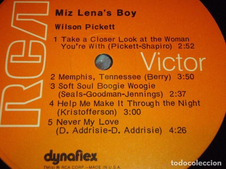 Discos de vinilo: Wilson Pickett – Miz Lenas Boy, US 1973 RCA Victor - Foto 3 - 92207955