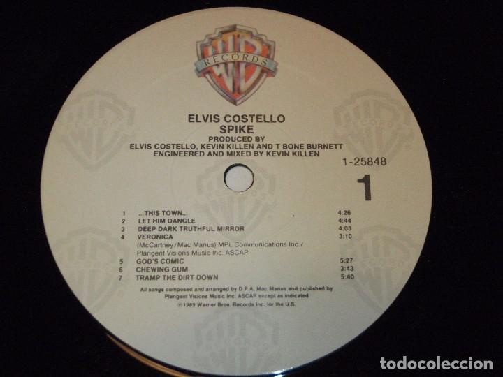 Discos de vinilo: ELVIS COSTELO ( SPIKE ) USA - 1989 LP33 WARNER BROS RECORDS - Foto 5 - 92210880