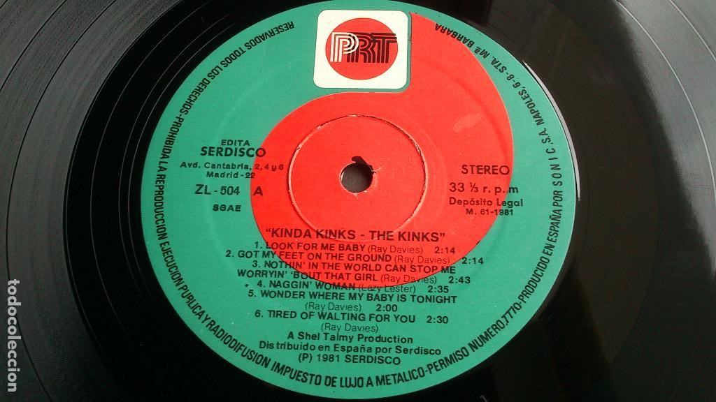 Discos de vinilo: THE KINKS, KINDA KINKS. LP - ESPAÑA - REEDICIÓN 1981 - BUEN ESTADO - Foto 3 - 92236470