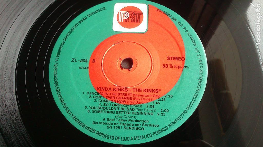 Discos de vinilo: THE KINKS, KINDA KINKS. LP - ESPAÑA - REEDICIÓN 1981 - BUEN ESTADO - Foto 5 - 92236470