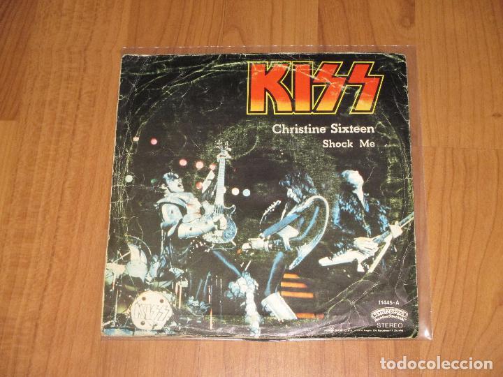 Discos de vinilo: KISS - CHRISTINE SIXTEEN - SINGLE - CASABLANCA . SPAIN - REF 11445-A - 1978 - T - - Foto 2 - 92237635