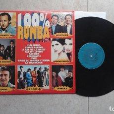 Discos de vinilo: 100% RUMBA - 3 LPS (LOS AMAYA, LOS MANOLOS, PERET, LOS DEL RIO, .....). Lote 92237800