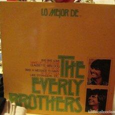Discos de vinilo: THE EVERLY BROTHERS - LO MEJOR DE - BARNABY RECORDS - LP 1974. Lote 92238505
