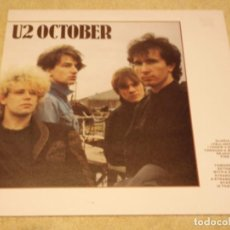 Discos de vinilo: U2 ?– OCTOBER SCANDINAVIA 1981 ISLAND RECORDS. Lote 92249730