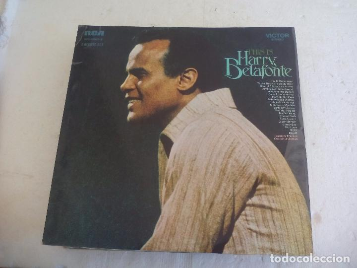 HARRY BELAFONTE. THIS IS HARRY BELAFONTE. DOBLE LP. 1970 USA RCA VPS 6024/1-2 DISCO VINILO LP (Música - Discos - LP Vinilo - Otros estilos)