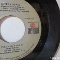 Discos de vinilo: JUAN GABRIEL PEPE QUINTANA AMIEL PERSHING 1980 ARIOLA COLOMBIA 45RPM T51 ESCASO R. Lote 92284880
