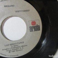 Discos de vinilo: MECANO 1987 SONOLUX ARIOLA COLOMBIA 45RPM T51 ESCASO G.. Lote 92292495