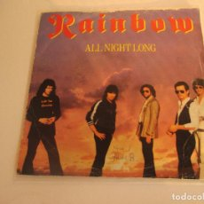 Discos de vinilo: RAINBOW - ALL NIGHT LONG - SINGLE - POLYDOR - SPAIN - T - . Lote 92300410