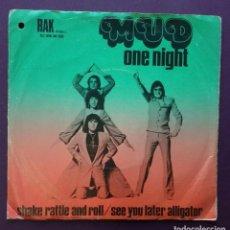 Discos de vinilo: MUD – ONE NIGHT. EDICIÓN HOLANDESA. Lote 92307690