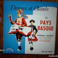Discos de vinilo: OLDARRA - DANSES ET CHANTS DU PAYS BASQUE . Lote 92344755