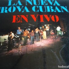 Discos de vinilo: LA NUEVA TROVA CUBANA-DOBLE LP-PABLO MILANES. Lote 92372970