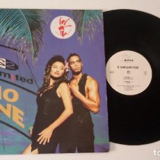 Discos de vinilo: 2 UNLIMITED - NO ONE (EDICIÓN BELGA). Lote 92400790