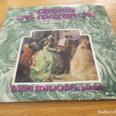 Discos de vinilo: CHOPIN. LAS MAZURCAS. VOL. 3. Lote 92440645