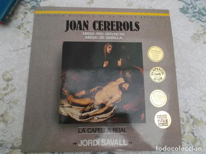 JOAN CEREROLS MISSA PRO DEFUNCTIS MISSA DE BATALLA DIRECCIO JORDI SAVALL ,2 LPS (Música - Discos - LP Vinilo - Clásica, Ópera, Zarzuela y Marchas)
