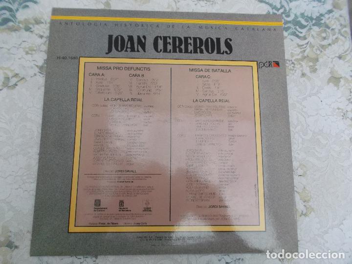 Discos de vinilo: JOAN CEREROLS MISSA PRO DEFUNCTIS MISSA DE BATALLA DIRECCIO JORDI SAVALL ,2 lps - Foto 3 - 92449710
