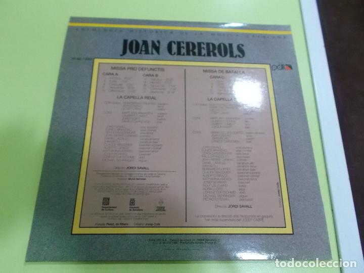 Discos de vinilo: JOAN CEREROLS MISSA PRO DEFUNCTIS MISSA DE BATALLA DIRECCIO JORDI SAVALL ,2 lps - Foto 5 - 92449710