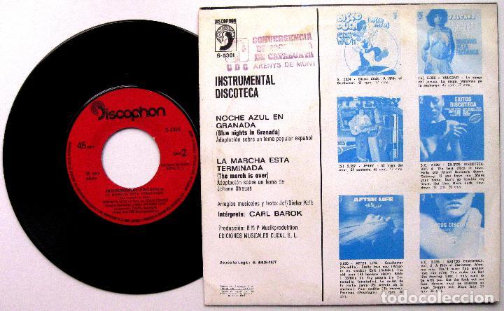 Discos de vinilo: Carl Barok - Noche Azul En Granada - Single Discophon 1977 BPY - Foto 2 - 92451735