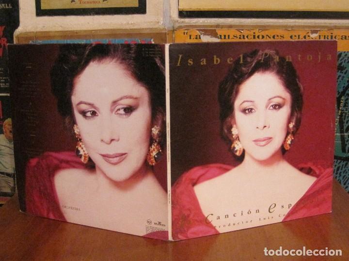 Discos de vinilo: ISABEL PANTOJA - CANCIÓN ESPAÑOLA - DOBLE LP RCA DE 1990 INCLUYE CARTEL,ENTRADA + EXTRAS-VER FOTOS. - Foto 3 - 92490530
